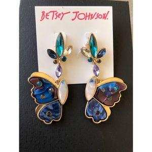Betsey Johnson Mismatch Half Butterflies Earrings